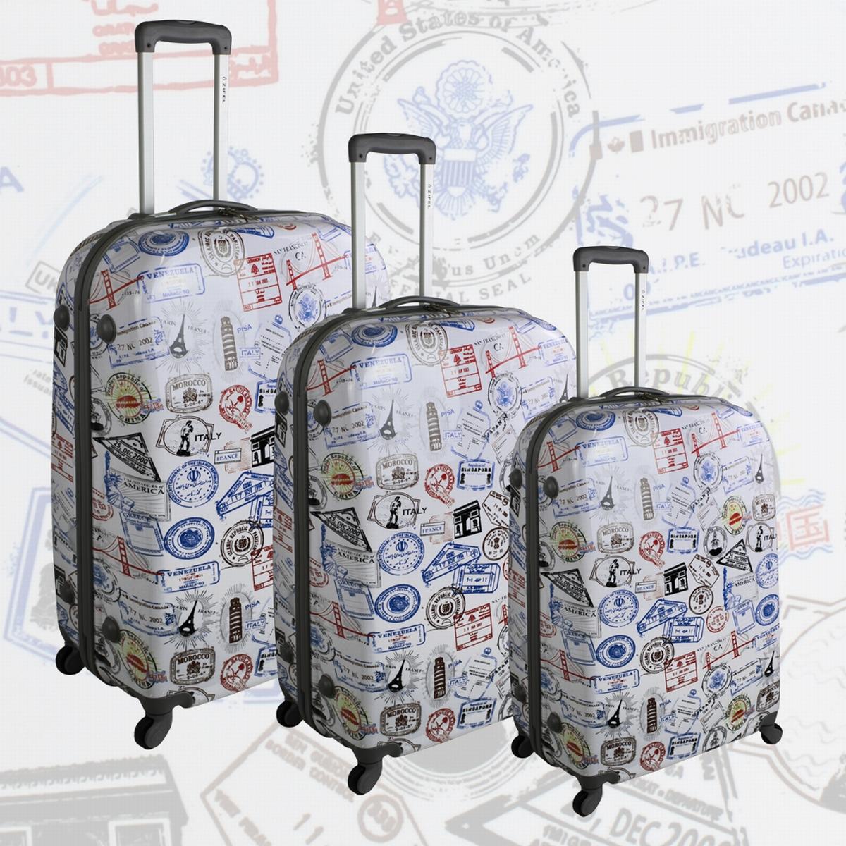 pack de 3 valises zifel bagage rigide. Black Bedroom Furniture Sets. Home Design Ideas