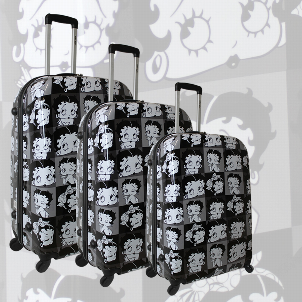 valise rigide betty boop set 3 bagages pas cher. Black Bedroom Furniture Sets. Home Design Ideas