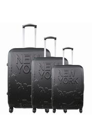 PACK DE 3 VALISES NEW YORK 3D Matière : ABS 4 Roues 360°