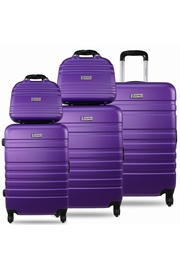 3 VALISES + 2 VANITYS Matière : ABS - bagage rigide 4 roues