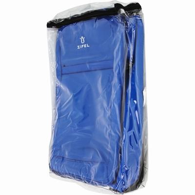 Valise 2 roues Couleurs : Noir, Bleu. Matière : Polyester