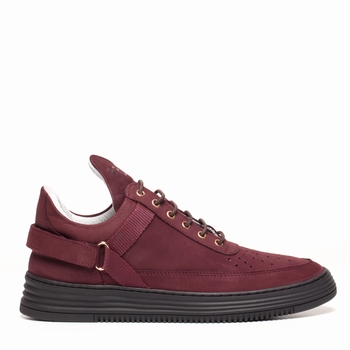 Sneakers, Filling Pieces - Low Top - Cuir Nubuck - Strap
