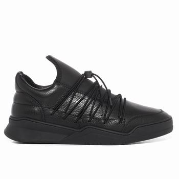 Sneaker Low-Top en cuir et neoprene - 100% cuir premium -