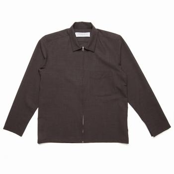 Veste, L'Homme Rouge - Surveste zippée - Col chemise - Laine