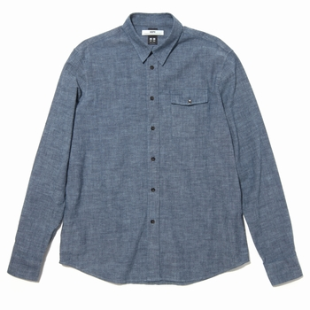 Chemise, Hope - Regular Fit - Chambray - 100% Coton - 1