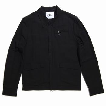 Veste légère en coton et lin - Fermeture cachée à double zip