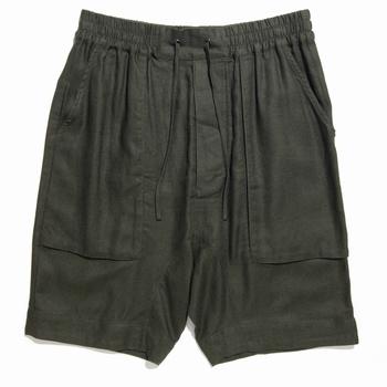 Short oversized en lin mélangé - Oversized fit - Cordons de