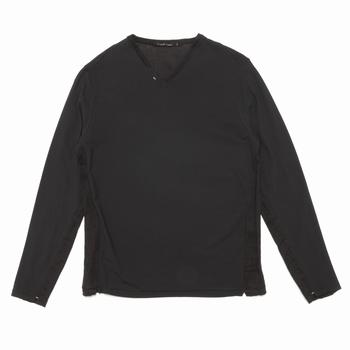 Tee-shirt manches longues en col V - Regular - Col en lin -
