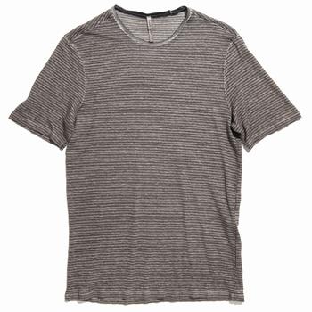 Tee shirt en lin à col rond - Regular - Teint à la main -