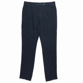 Pantalon en lin - Slim fit - 2 poches côté - 2 poches