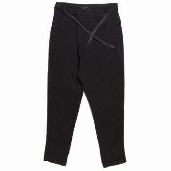 Pantalon à fourche basse en lin - Large aux cuisses et