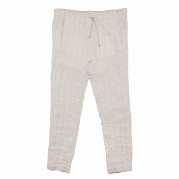 Pantalon à rayures fines en lin - Tapered fit - Rayures