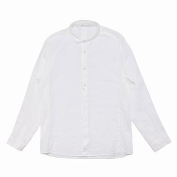 Chemise à col italien fin - Regular fit - Manche en jersey