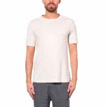 T-Shirt, Transit Uomo - 90% Coton et 10% Lin - Chiné - Col