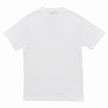 Tee-shirt, Sunspel - Col rond - Manches courtes - 100% coton