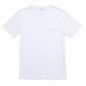 Tee-shirt à poche en coton - Regular fit - Col côtelé -