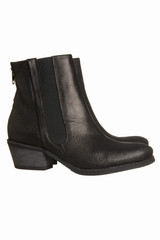 Boots Zip Atelier Do Sapato. Boots bi-matière. Côté bordure