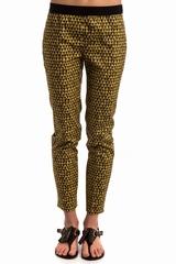 Pantalon imprimé INCOTEX, Pantalon coupe droite avec