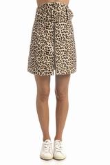 Jupe Carven La jupe Carven Drap imprimée léopard est une