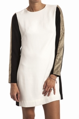 Robe fit patou Osklen. Robe col rond. Manches longues. Zip