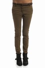 Pantalon skinny chino Maison Scotch, taille basse. 4 poches