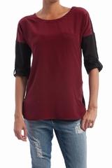 Le tee-shirt patte épaule Sonia By Sonia Rykiel est un top
