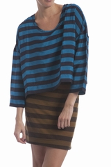 La robe rayures bimatière Sonia By Sonia Rykiel est une robe