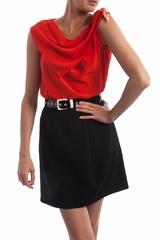 Le top en soie noeud Sonia By Sonia Rykiel est un top droit
