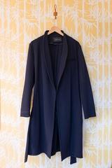 Manteau ceinture CEDRIC CHARLIER, Manteau ouvert mi-long,