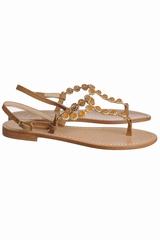 Sandale diamants avec une bride entre les orteils. Se ferme
