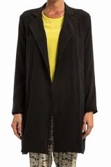 Manteau TOUPY soie Angie. Manteau droit et long, coupe