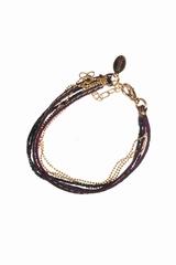 Le bracelet multi-chaînes bicolore Sogoli Design est un