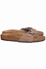 Sandale velours Madrid, Birkenstock. Mule qui se ferme avec