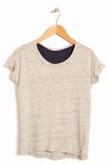 Top Mond BELLEROSE, T-shirt chiné manches courtes col rond