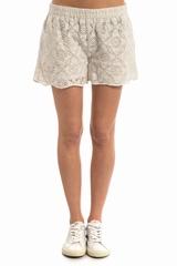 Short Charlo GAT RIMON, Short en dentelle doublé avec 2