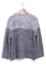 Pull Cici S Bang. Pull chiné col montant. 2 manches longues.
