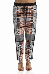 Pantalon Clover Canyon shantung,taille elastique avec un