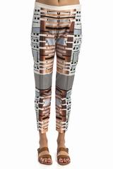 Pantalon Clover Canyon shantung, se ferme avec un zip et une
