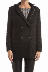 Manteau TINSELS Dinan. Manteau mi-long croise, avec un col