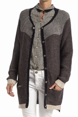 Cardigan Dries, Tinsels. Cardigan long, manches longues. Se