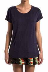Tees col VrondMAJESTIC FILATURES, Top ample manches courtes,