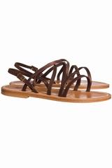 Sandales Heracles K.JACQUES, Sandales à bride en cuir,