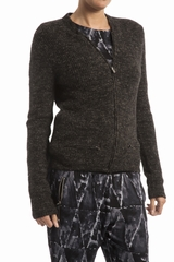 Veste maille American Vintage, manches longues. Col rond.