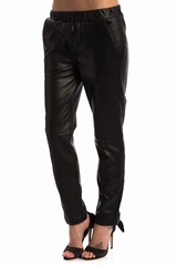 Pantalon Joggy OAKWOOD, Pantalon en cuir style jogging avec