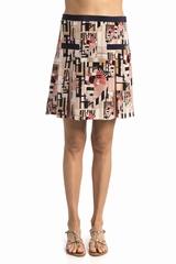 Jupe plis imprimee See By Chloe, se ferme avec un zip sur le
