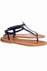 Sandales Picon K.JACQUES, Sandale plate avec une lanière
