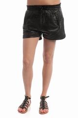 Short large, poche zip. Taille elastique, lien a la