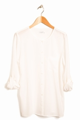 Chemise Hayes EQUIPMENT, Chemise large sans col, manches