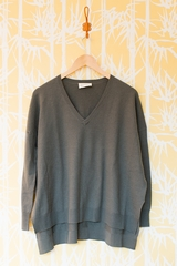 Pull sadieville AMERICAN VINTAGE manches longues, col V 100%