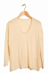 Top Sandy Sky AMERICAN VINTAGE, T-shirt manches longues col